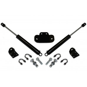 DOUBLE STEERING STABILIZER W/ 2.0 BLACK STABILIZERS