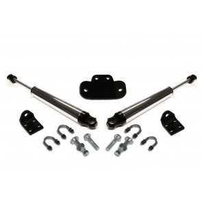 DOUBLE STEERING STABILIZER W/ 2.0 CHROME STABILIZERS